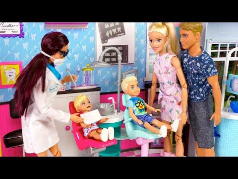Barbie & Ken Family Dentist Visit & Toy Store Weekend Routine