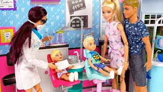 Barbie & Ken Family Dentist Visit & Toy Store Weekend Routine
