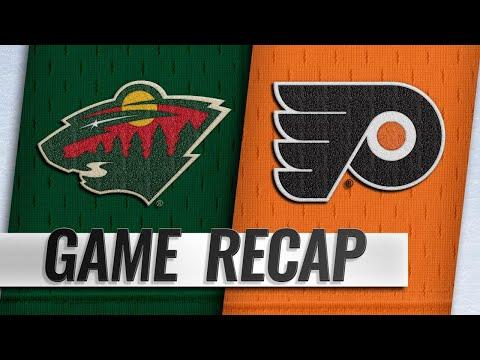 Van Riemdsyk records hat trick in Flyers' 7-4 win