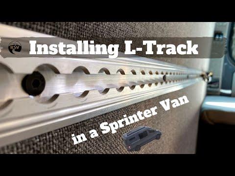 943c36b4c3 Using PlusNuts  L-track Install - DIY Sprinter Camper Van - YouTube