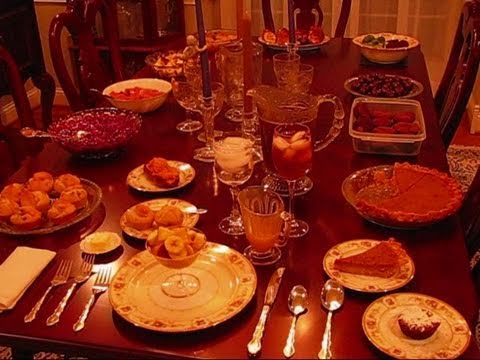 Bettys Thanksgiving Dinner Table 2010 Youtube