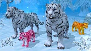 СИМУЛЯТОР ДИКОЙ КОШКИ #23 Семья белого ТИГРА - Игровой мультик про животных #ПУРУМЧАТА