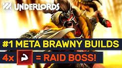 #1 Meta Brawny Build Found! Brawny Raid Boss Combos! | Dota Underlords