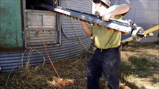 Using A Sweep Auger To Empty Out A Grain Bin