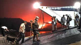 video: Greece battles to control Evia wildfire as hundreds forced to flee