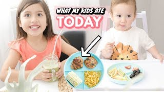 WHAT MY KIDS AND BABY EAT IN A DAY!