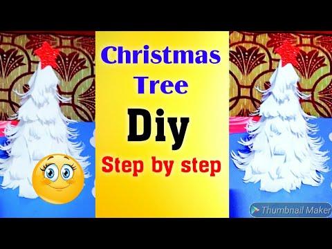 Christmas tree/diy paper tree 2018 , step by step 😍    pj mind