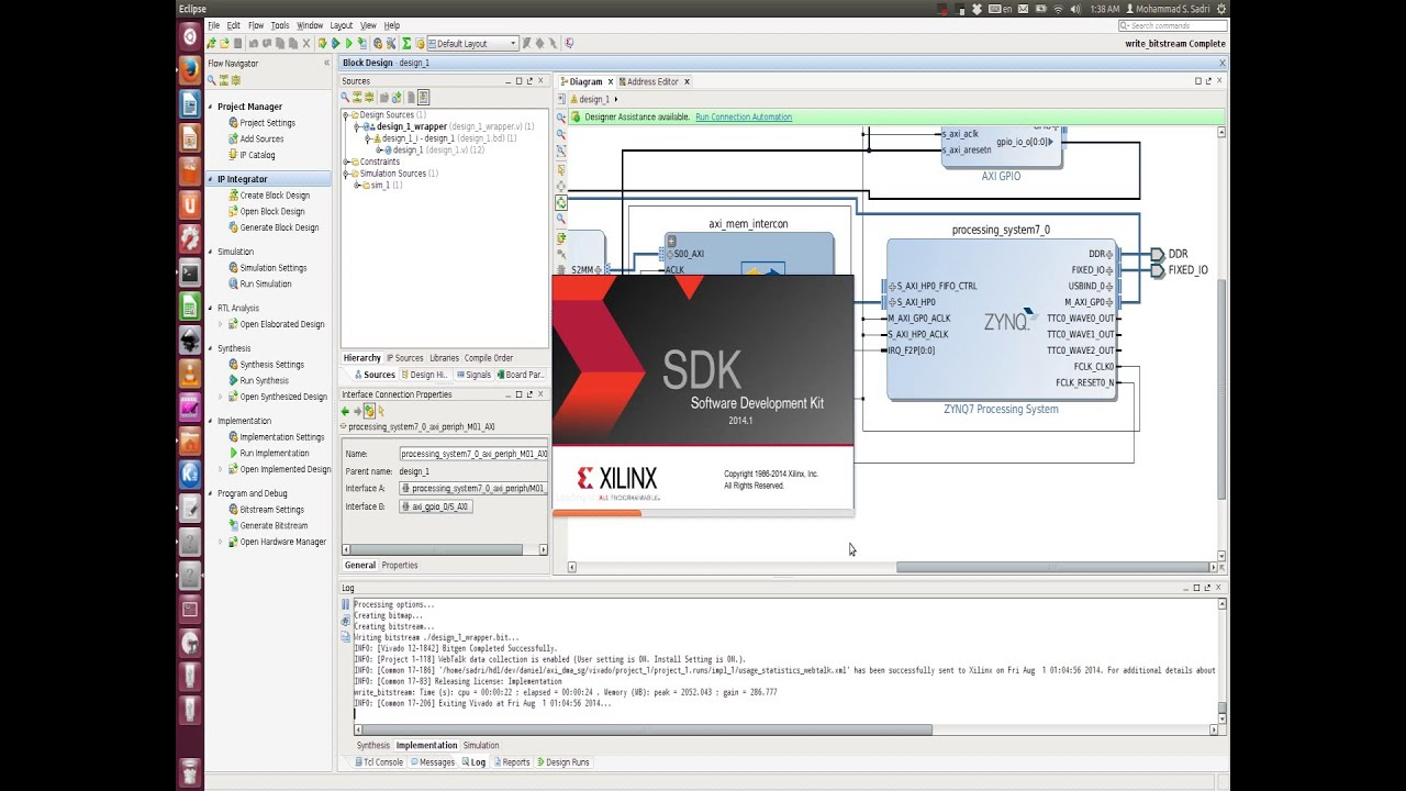 Zynq Training - session 09 part II - Creating the Base Hardware for  exporting to Xilinx SDK