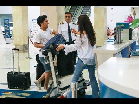 Trường Giang - Nhã Phương chạy hối hả ở sân bay vì trễ giờ [Tin mới Người Nổi Tiếng]