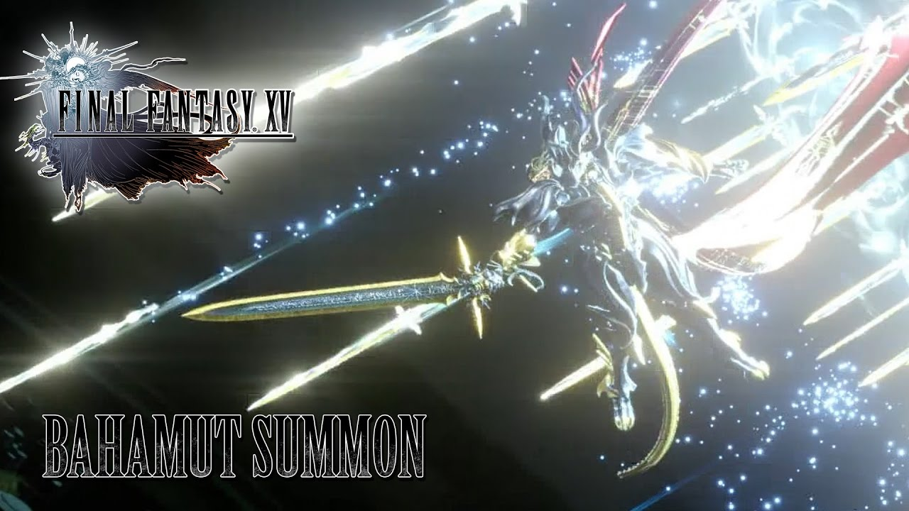 FINAL FANTASY XV OST Bahamut Summon YouTube