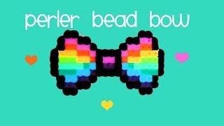 How to make a RAINBOW Perler Bead BOW ♥ ♥ Thumbnail