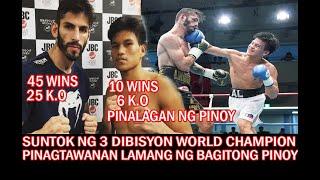 SUNTOK NG  3 DIBISYON WORLD CHAMPION TINAWANAN LANG NG BAGITONG PINOY BOXER INAKALANG MADALING LABAN