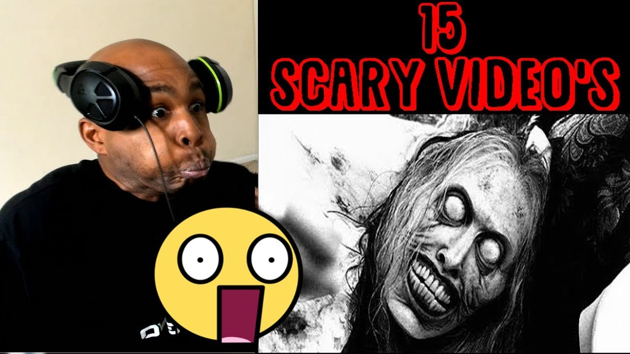 reacting-to-15-insanely-scary-video-s-try-not-to-get-scared-challenge