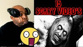 REACTING TO 15 INSANELY SCARY VIDEO'S - Try Not To Get Scared Challenge