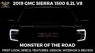 2019 GMC SIERRA 1500 6.2L V8 HiTech Truck FIRST LOOK Specs Features Price & Review