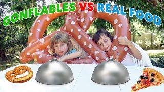 GONFLABLES VS REAL FOOD CHALLENGE - Vraie nourriture ou structure gonflable ? • Studio Bubble Tea