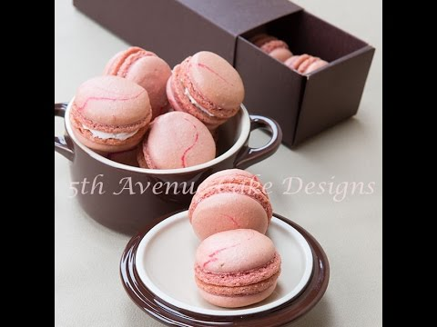Strawberry Swirl Macarons with Créme Fraîche Filling - YouTube