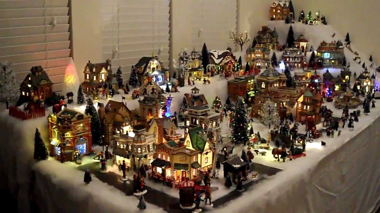 Chris & Gabby's LEMAX christmas village 2011 - YouTube