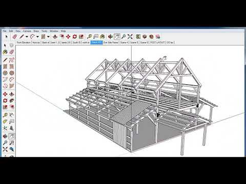How to Build a Post and Beam Barn, Construction Procedure Overview