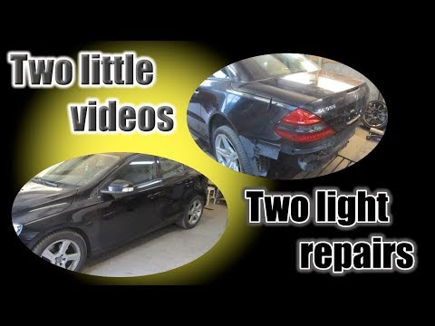 Two light repairs, two short videos. Два легких ремонта, два коротких видео.