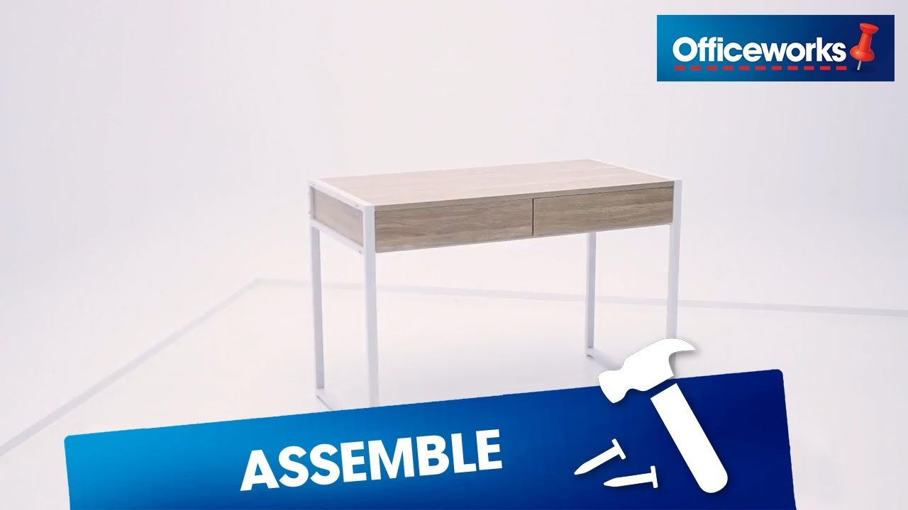Sheffield 2 Drawer Desk Assembly Instructions