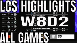 LCS Highlights ALL GAMES W8D2 Summer 2021