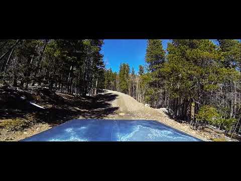 Driving up Ballard Road near Fort Collins, Colorado