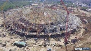 """Строительство стадиона (""""Новости Тольятти"""" 08.08.2017)"""