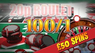 ** BIG RESULT ** 20p Roulette with 100/1 CHIPS!