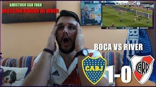 BOCA JUNIORS VS RIVER PLATE 1-0 | REACCION HINCHA DE RIVER | SUPERCLASICO AMISTOSO 2017