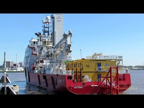 offshore supply ship VOS START PBIH IMO 9730505 enters Grand Emden Sealock