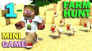 ч.01 Minecraft Farm Hunt - Бешенные куры