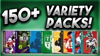 150+ PACKS! INSANE VARIETY PACK OPENING! - Madden Mobile 20