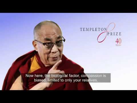 Can compassion be trained or taught?  His Holiness the Dalai Lama, Templeton Prize 2012