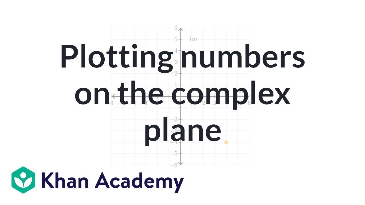 Plotting numbers on the complex plane (video) | Khan Academy