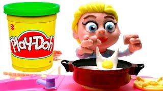 Elsa & Olaf Stop motion playdoh animation Frozen disney claymation video