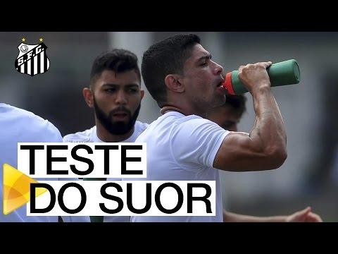 Santos FC e Gatorade realizam teste do suor