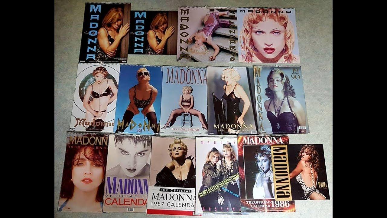 Calendario Madonna 2020.Madonna Calendar Official Complete Set 1997 1986