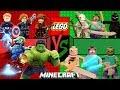 LEGO vs MINECRAFT - LEGO Marvel Avengers (Vingadores) Batalha de Heróis - Caraca Games