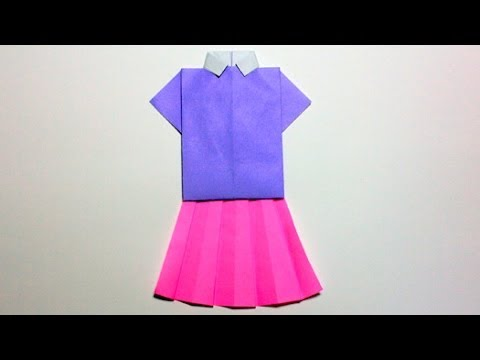 Origami Skirt Youtube