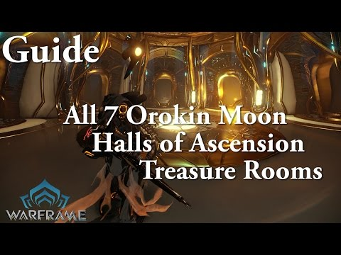 Warframe | All 7 Orokin Moon Halls of Ascension Treasure Rooms (Drift Mods Guide)