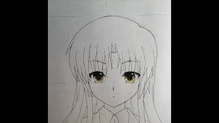 How to draw Kanade Tachibana (Angel Beats)