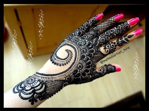 Diwali special Beautiful stylish arabic/gulf bridal heavy henna mehndi designs for hands for eid