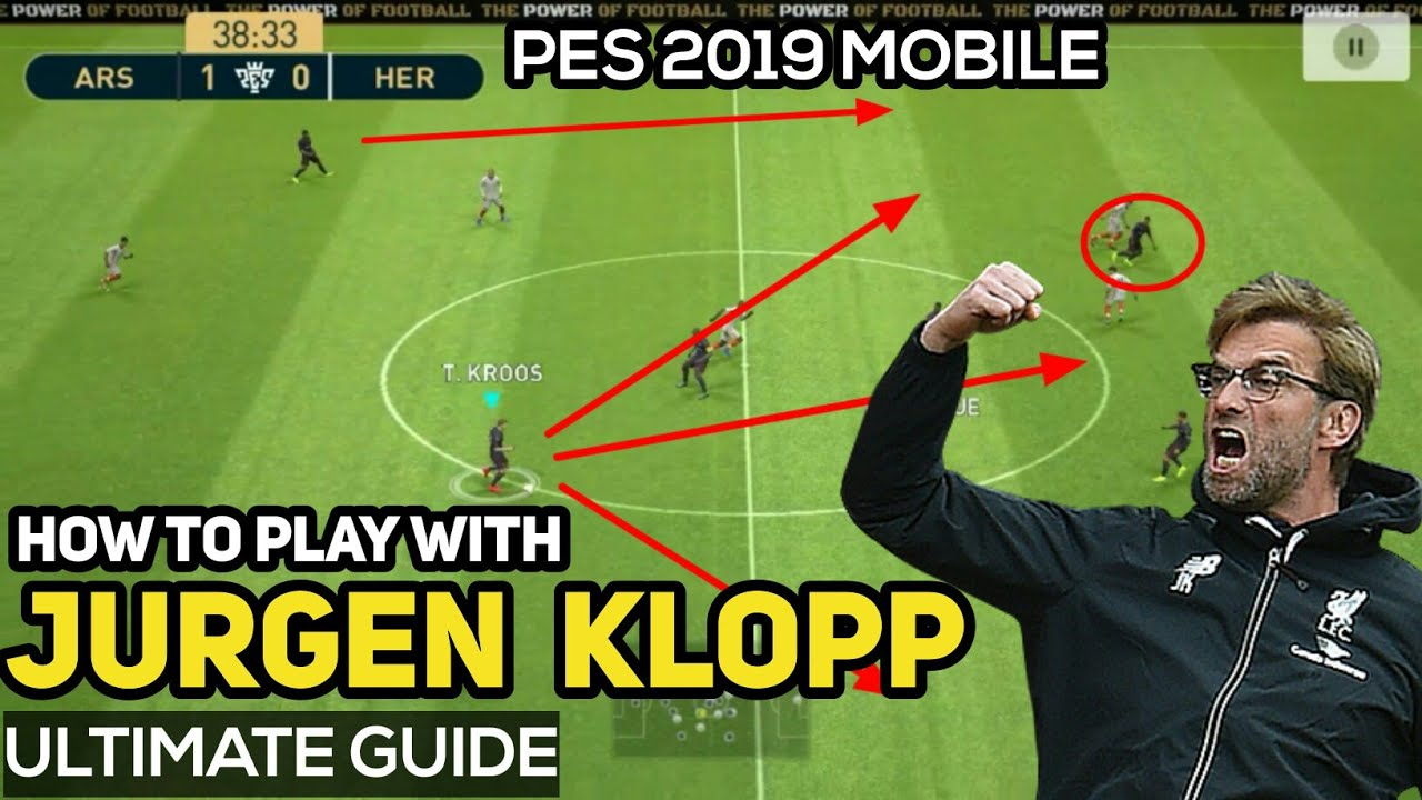 PES 2019 Mobile - J Klopp Formation Guide & Tactics | How To Play With  Klopp PES 2019