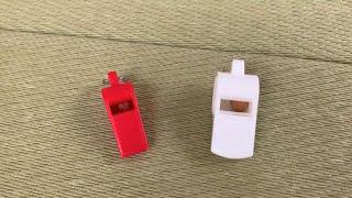 北海道の車掌さんはプラスチック製の笛を吹くとの情報を頂き、プラスチック製のホイッスルでも車掌さん風の吹き方を試してみました!(情報...