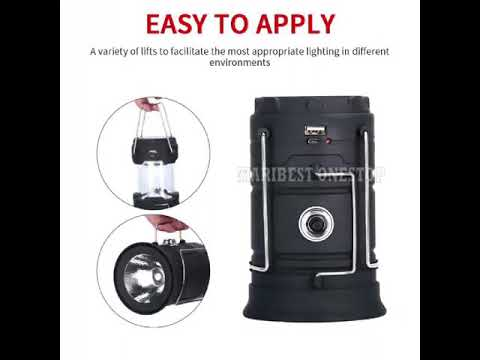 Rechargeable 3 in 1 Solar Ultra Bright 6 LED Camping Tent Lantern.