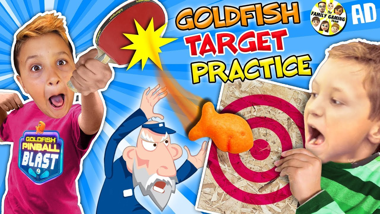 GOLDFISH CRACKERS CHALLENGE! Target Practice w FGTEEV