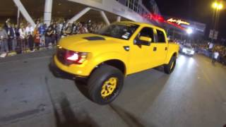 nothing but trucks at the SEMA show in Las Vegas