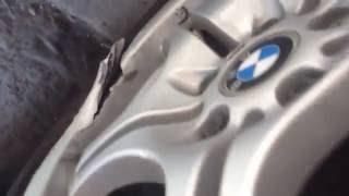 Myslíte, že to půjde opravit? BMW E46 alu disk M3 Power style 68