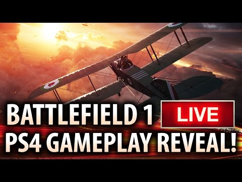 BATTLEFIELD 1 LIVE PS4 Gameplay Reveal!  Closed Alpha Multiplayer Gameplay